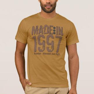 Camiseta Feito em 1997 ou algum MOCHA do texto do Grunge do