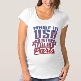 Camiseta Feito em América com peças italianas