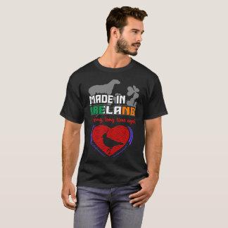 Camiseta Feito em Ireland um país longo do orgulho dos
