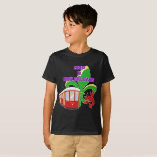 Camiseta Feito em Nova Orleães caçoa o t-shirt