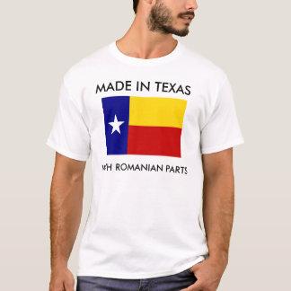 Camiseta Feito em Texas com peças romenas