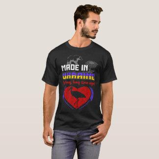 Camiseta Feito em Ucrânia um país longo do orgulho dos