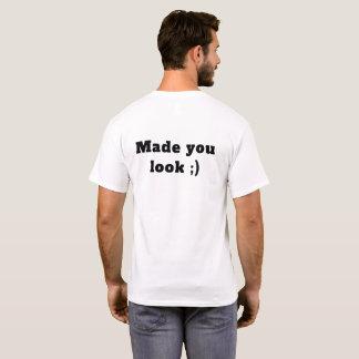 Camiseta Feito lhe o t-shirt do olhar