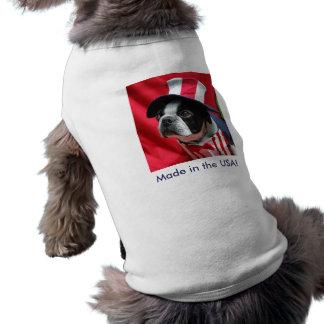 Camiseta Feito na camisa de Boston Terrier T do cão dos EUA