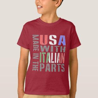 Camiseta Feito nas peças do italiano da sagacidade dos EUA