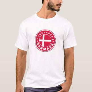 Camiseta feito no danmark dos foretages da etiqueta da