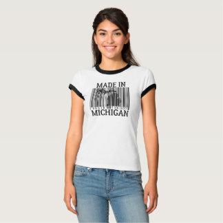 Camiseta Feito no T do anel do código de barras de Michigan