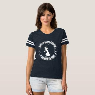 Camiseta Feito no t-shirt do futebol das mulheres do Reino