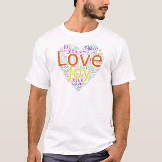 Camiseta Felicidade da alegria do amor