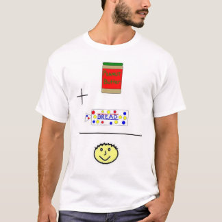Camiseta Felicidade da manteiga de amendoim