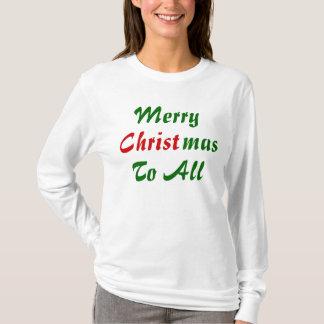 Camiseta Feliz Natal a tudo