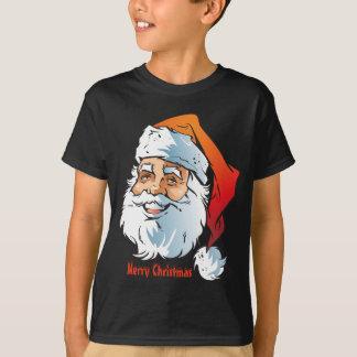 Camiseta Feliz Natal de sorriso na moda do papai noel