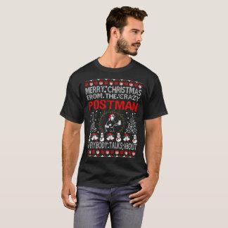 Camiseta Feliz Natal do Tshirt feio da camisola do carteiro