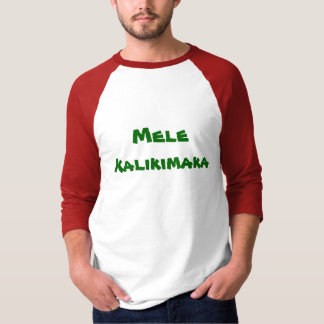 Camiseta Feliz Natal e estilo do Hawaiian do feliz ano novo