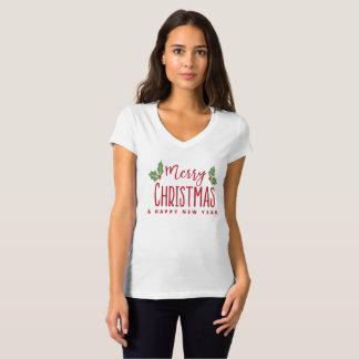 Camiseta Feliz Natal e feliz ano novo