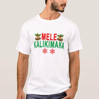 Camiseta Feliz Natal e feliz ano novo de MELE KALIKIMAKA