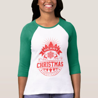 Camiseta Feliz Natal e rena do pinho do feliz ano novo