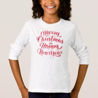 Camiseta Feliz Natal & feliz ano novo do Natal |