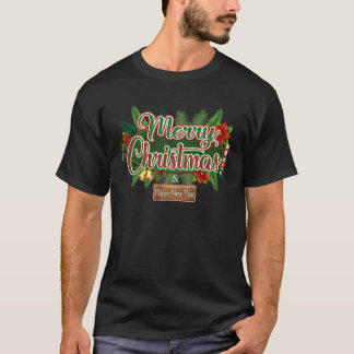 Camiseta Feliz Natal - t-shirt do feriado do feliz ano novo