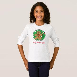 Camiseta Feliz Natal você T do bastão do