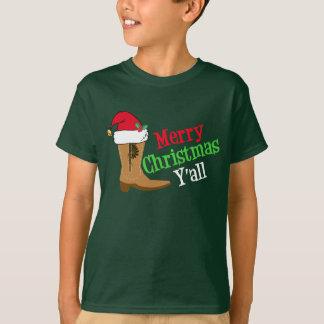 Camiseta Feliz Natal Yall do vaqueiro