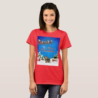 Camiseta Feliz Natal Yorkie