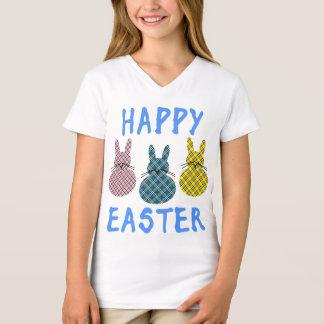 Camiseta Felz pascoa com três coelhos