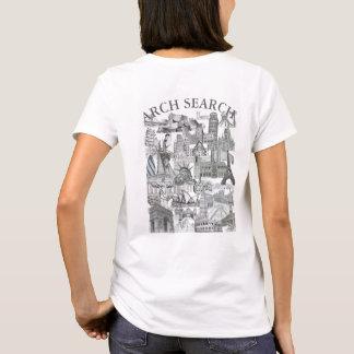 Camiseta feminina Básica Arch Search Mural