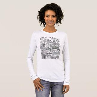 Camiseta feminina Básica Long Arch Search Mural