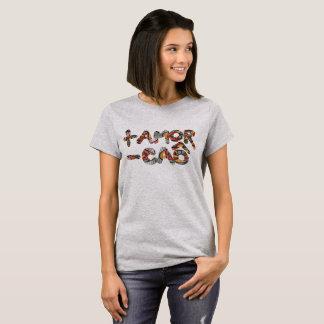 Camiseta Feminina Básica - Mais Amor Menos Caô