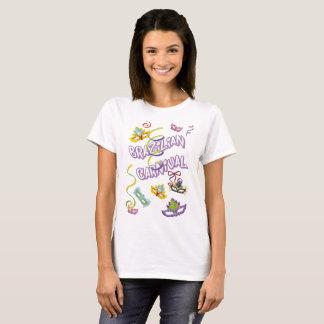 Camiseta Feminina Branca Carnaval do Brasil