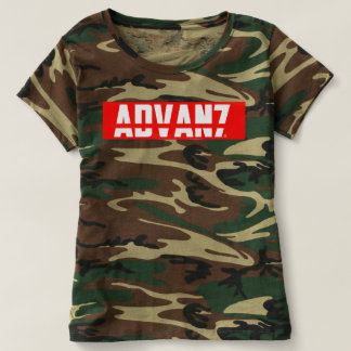 "Camiseta Feminina Camuflada ""Advanced"" (Nova)"