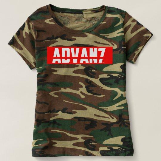 "Camiseta Feminina Camuflada ""Advanced"" (Nova)"