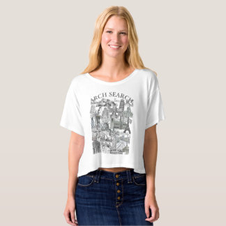 Camiseta feminina Crop Arch Search Mural
