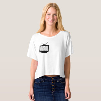 Camiseta feminina Crop Arch Search Tv