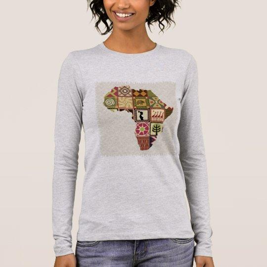 Camiseta feminina de mangas compridas Africa