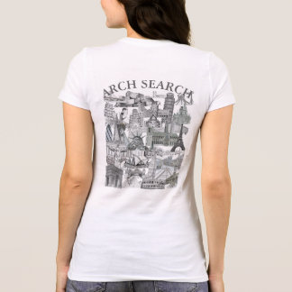 Camiseta feminina Favorite Arch Search Mural