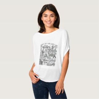 Camiseta feminina Flowy Circle Arch Search Mural