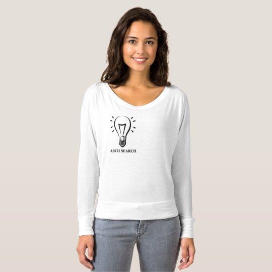 Camiseta feminina Flowy Long Arch Search