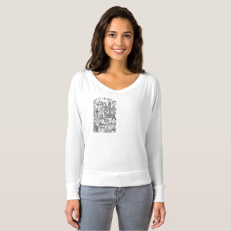 Camiseta feminina Flowy Long Arch Search Mural