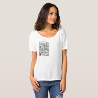 Camiseta feminina Flowy Simple Arch Search Mural