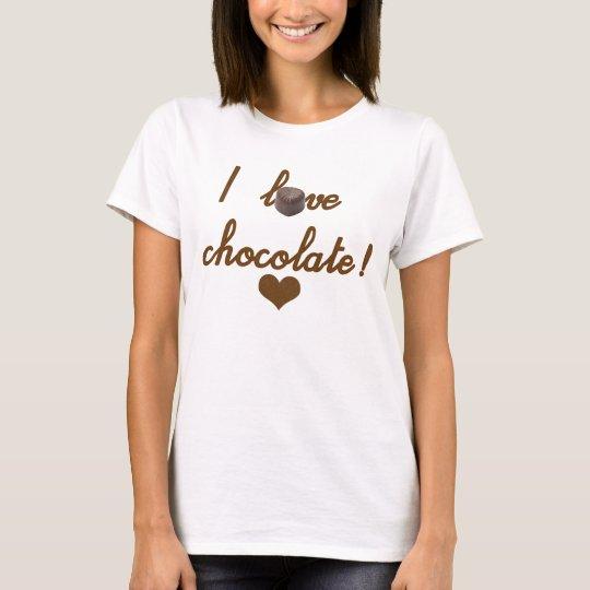 Camiseta Feminina I love chocolate