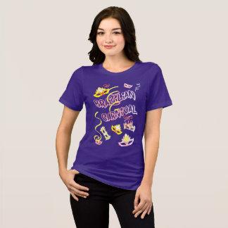 Camiseta Feminina Lilás Carnaval do Brasil