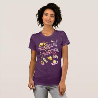 Camiseta Feminina Lilás Jersey Carnaval do Brasil