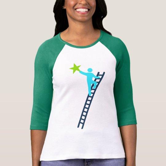Camiseta feminina mangas 3/4 Buscar Estrela