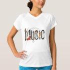 Camiseta feminina Music