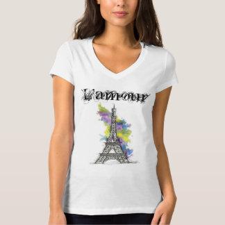 Camiseta Feminina Paris L'amour