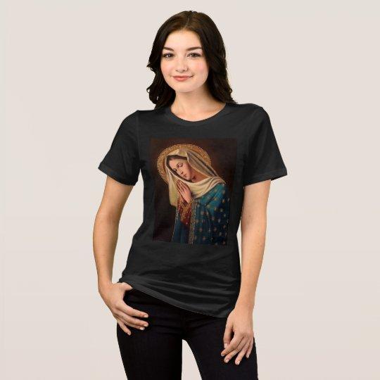 """Camiseta feminina preta """"Nossa Senhora"""""""