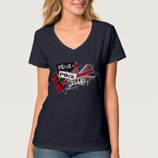 """Camiseta  feminina """"Punk Rock Queen"""""""