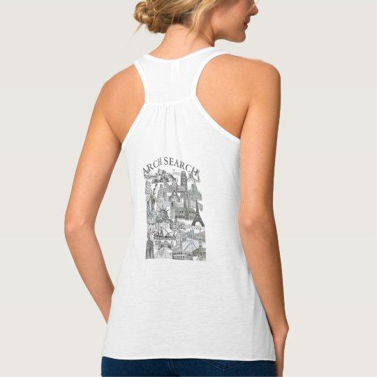 Camiseta feminina Regata Flow Arch Search Mural